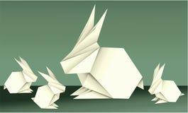 复活节与假日元素的origami装饰 免版税库存照片