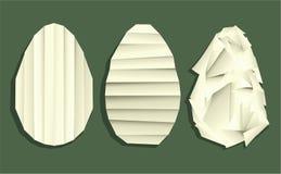 复活节与假日元素的origami装饰 库存照片