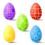 复活节传染媒介例证用鸡蛋 免版税库存图片