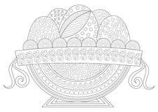 复活节假日赴宴盘子线艺术图画 皇族释放例证