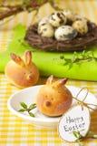 复活节兔子小圆面包。 库存照片