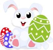 复活节兔子礼品鸡蛋 库存图片