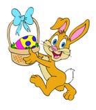 复活节兔子篮子 库存照片