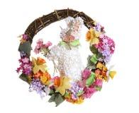 复活节兔子花圈 库存图片