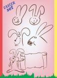 复活节动画片兔宝宝 库存图片