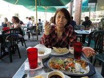 复活节午餐墨西哥餐馆 库存图片