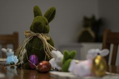 复活节午餐表 免版税库存图片