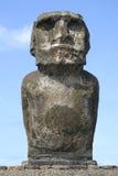 复活节岛偏僻的雕象 免版税图库摄影