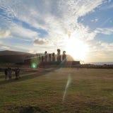 复活节岛智利的角落 库存照片