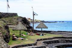 复活节岛,智利 免版税库存照片