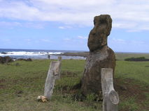 复活节岛moai 库存照片