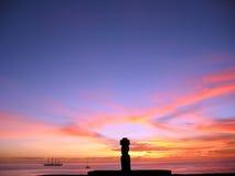 复活节岛moai 免版税库存照片