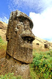 复活节岛moai 免版税图库摄影