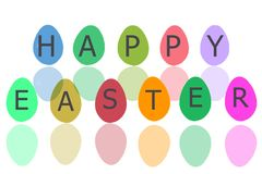复活节彩蛋为与白色孤立的复活节假日 免版税图库摄影