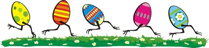 复活节彩蛋介于刺激与反应之间的时&# 免版税库存照片