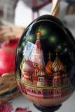 复活节彩蛋俄语 免版税库存照片