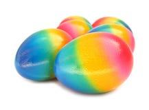 复活节彩蛋可爱的五颜六色的被绘的彩虹 图库摄影