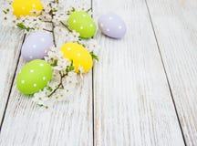 复活节彩蛋和春天开花 图库摄影