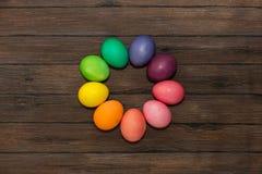 复活节彩蛋圆的框架  库存图片
