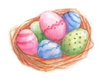 复活节彩蛋嵌套 水彩 免版税库存照片