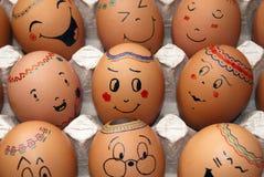 复活节彩蛋微笑 库存照片
