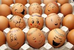 复活节彩蛋微笑 免版税库存图片