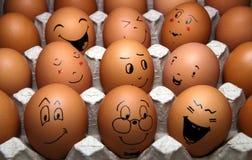 复活节彩蛋微笑 免版税库存照片