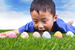 复活节彩蛋搜索 库存图片