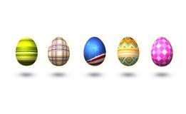 复活节彩蛋查出白色 免版税库存图片