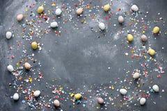 复活节彩蛋框架背景 图库摄影