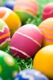 复活节彩蛋概略的冲程 库存图片