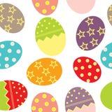 复活节彩蛋模式无缝的向量 免版税库存图片