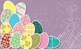 复活节彩蛋看板卡 免版税库存图片