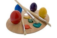 复活节彩蛋绘画 免版税库存照片