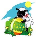复活节彩蛋羊羔 库存例证