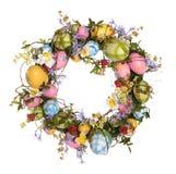 复活节彩蛋花圈 库存图片