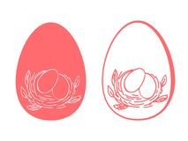 复活节彩蛋花 库存例证