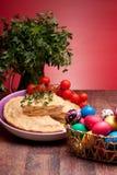 复活节彩蛋薄饼rustica 库存图片