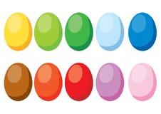复活节彩蛋设计和每年节日在白色背景 库存例证