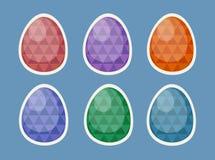 复活节彩蛋贴纸,动画片例证 皇族释放例证