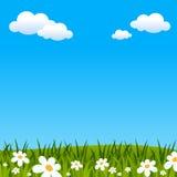 复活节或春天背景 皇族释放例证
