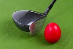 复活节打高尔夫球 库存照片