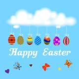 复活节是奇迹的时期 季节性横幅 皇族释放例证