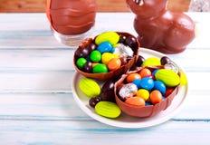 复活节构成用巧克力 免版税库存图片