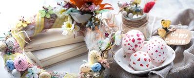 复活节构成用鸡蛋 免版税库存照片