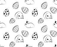 复活节样式用鸡蛋和兔子 Tiget 向量例证