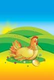 复活节母鸡 免版税库存照片