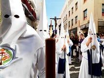 复活节狂欢节Semana圣诞老人在塞维利亚,西班牙 2015年4月2日 免版税库存图片