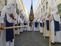 复活节狂欢节Semana圣诞老人在塞维利亚,西班牙 2015年4月2日 库存图片