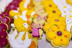 复活节甜糖果鸭子 免版税库存照片
